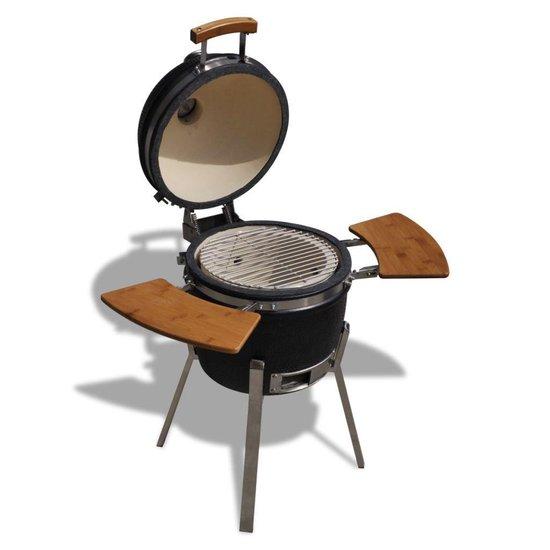 Deze Kamado keramische smoker is de ideale barbecue voor de