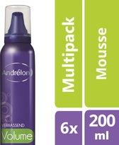 Andrélon Styling Haarmousse Verrassend Volume - 6 x 200 ml - Voordeelverpakking