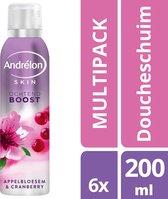 Andrélon Ochtend Boost Appelbloesem & Cranberry Doucheschuim - 6 x 200 ml - Voordeelverpakking