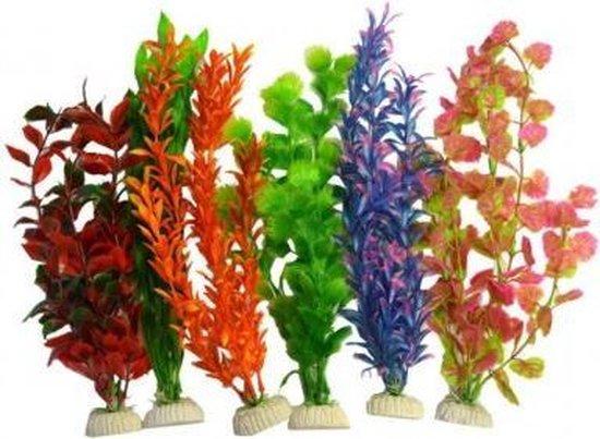 Super Fish Aquarium Plantjes - Diverse Kleuren - 6 stuks - 30 cm
