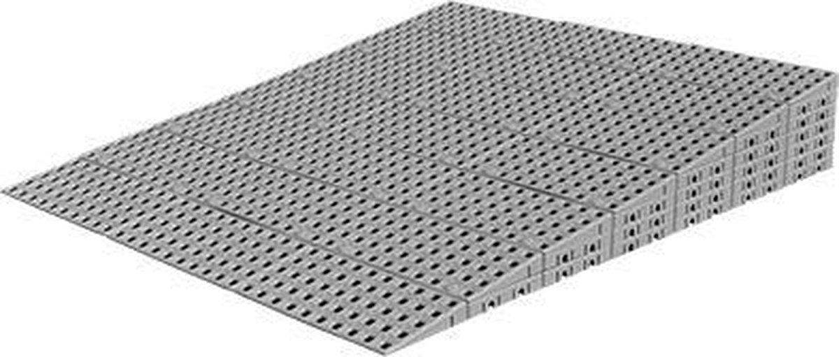 Drempelhulp Binnen - 12,8 t/m 14,4 cm (H) x 75 cm (B) - Verstelbare Oprijplaat / Drempelplaat - Oprijhelling - Set 7 - HomeCare Innovation BV