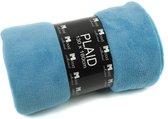 In The Mood Uni Fleece - Plaid - 130x180 cm - Aqua