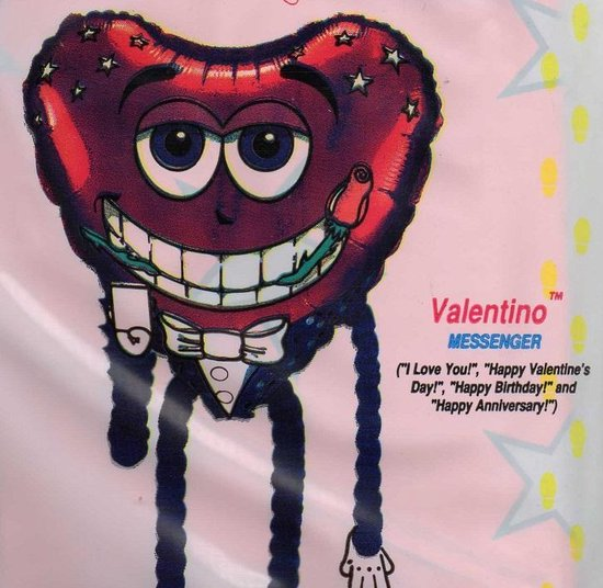 folieballon - high stepper - Valentino - leeg