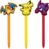 Bigben Official Pokemon Stylus Pen 3-Pack - Nintendo New 3DS/New 3DS XL/3DS/3DS XL/2DS