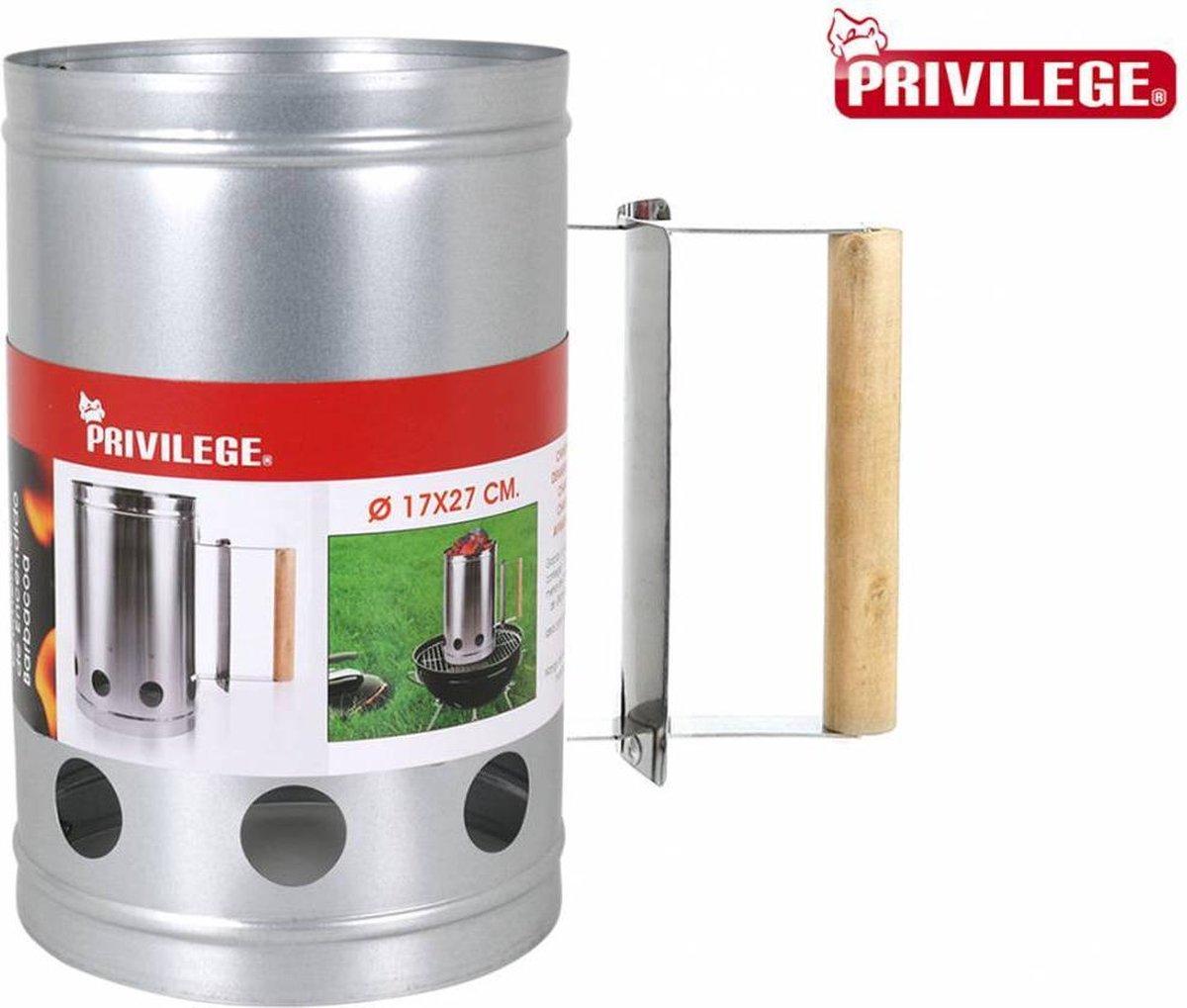 Privilege Barbecue starter - houtskool starter - metaal - 27x17cm