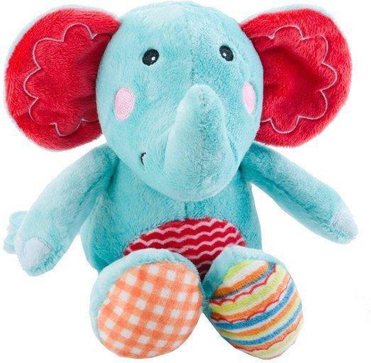Fisher price blauw knuffel olifant baby