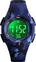 Kinderhorloge – Stopwatch – Waterdicht – Army Blue - Giftbox