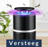 Insectenlamp tegen vliegende insecten - UV licht - Met USB aansluiting - Zwart