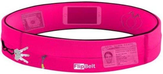 Flipbelt Rits Roze - Running belt - Hardloopriem - M