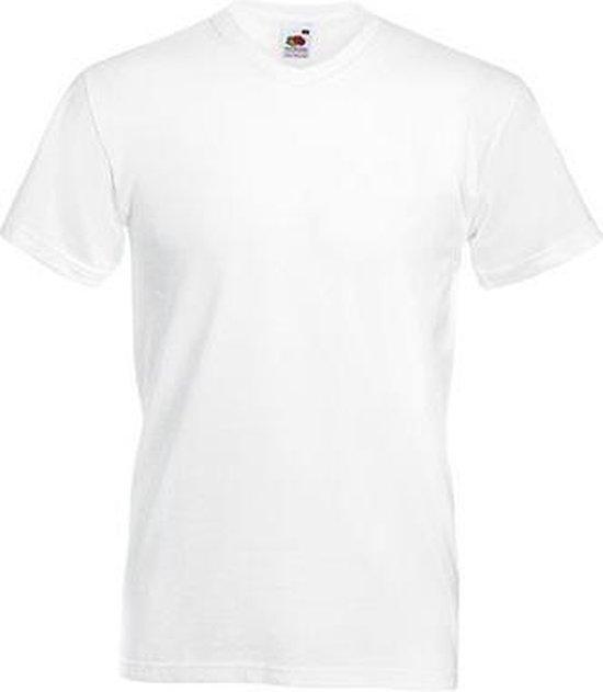 5-Pack Fruit of the Loom T-shirt - V-hals - Wit - Maat M