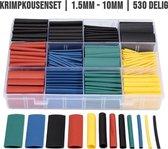 Krimpkousen Set | Draad Reparatie | Krimpkous | Krimpkousenset | Heat Shrink | 1.5mm t/m 10mm | Plastic Opbergdoos | 530 stuks