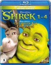 Shrek 1t/m4 + De Gelaarsde Kat (Blu-ray)