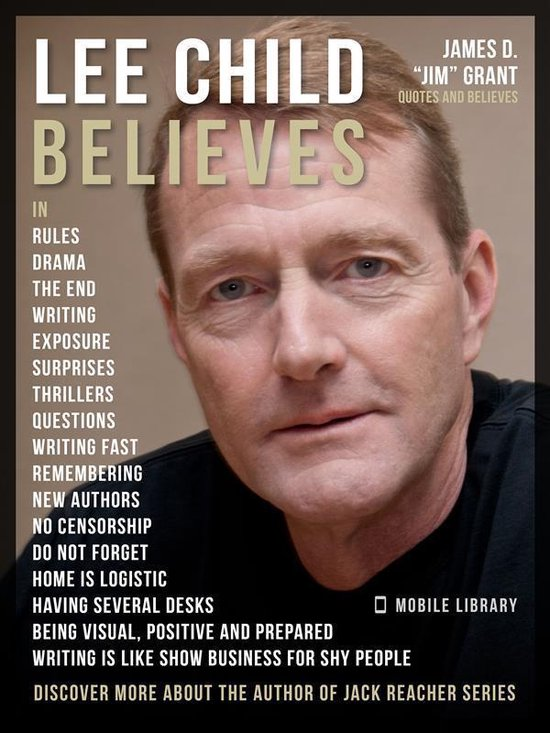 Omslag van Lee Child Quotes And Believes