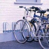Mottez - Fietsenrek - fietsrek muurbevestiging (4 fietsen) 45°
