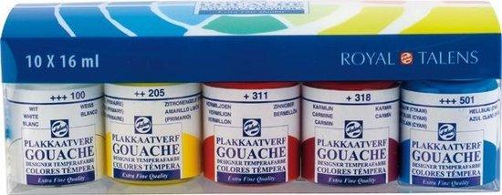 Talens gouache 10 flacons 16ml