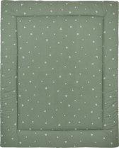 Meyco Sweet Triangle Boxkleed - stone green