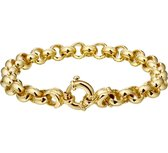 The Jewelry Collection Armband Jasseron 8 mm 20 cm - Verguld