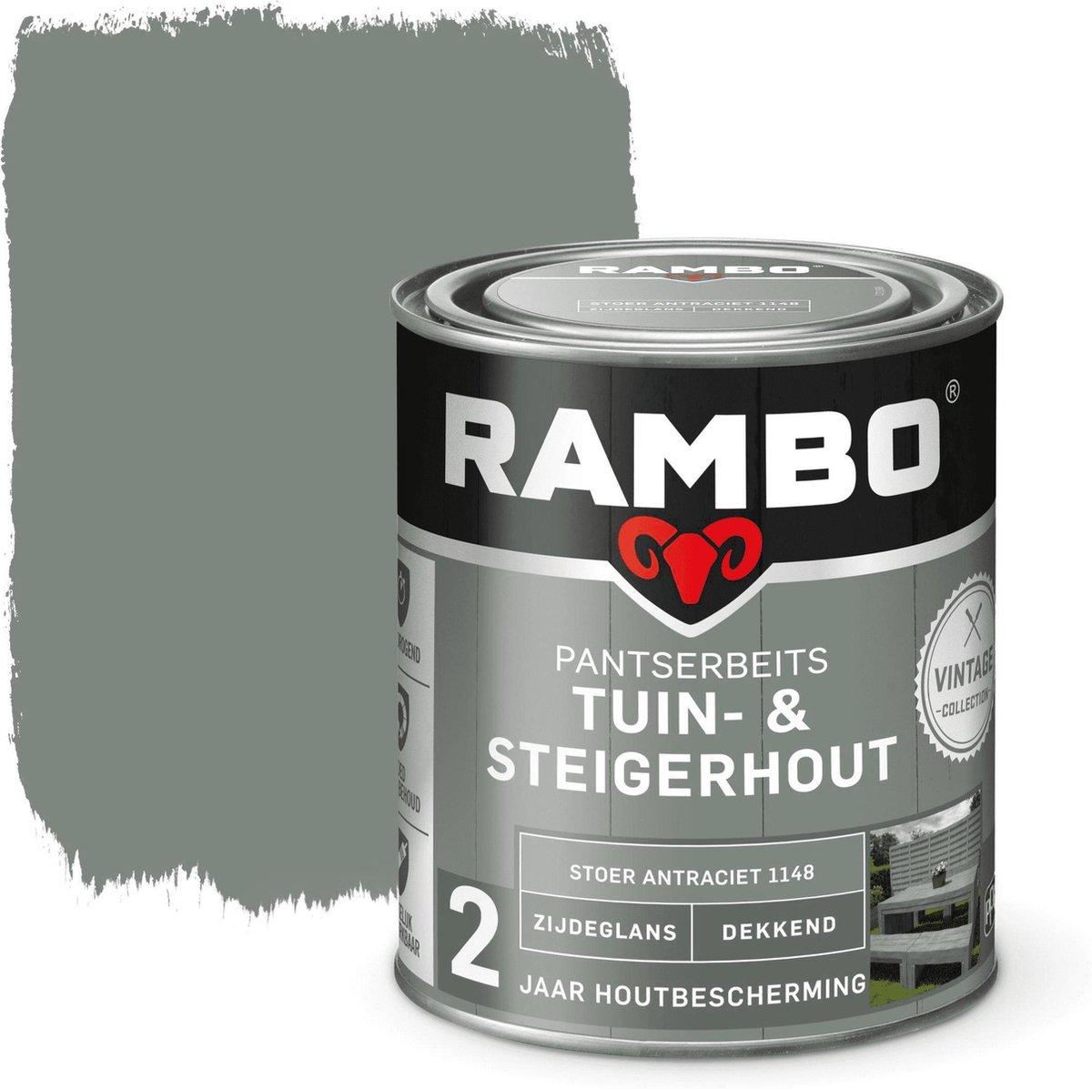 Tuin - & Steigerhout 750 ml Stoer Antraciet 1148