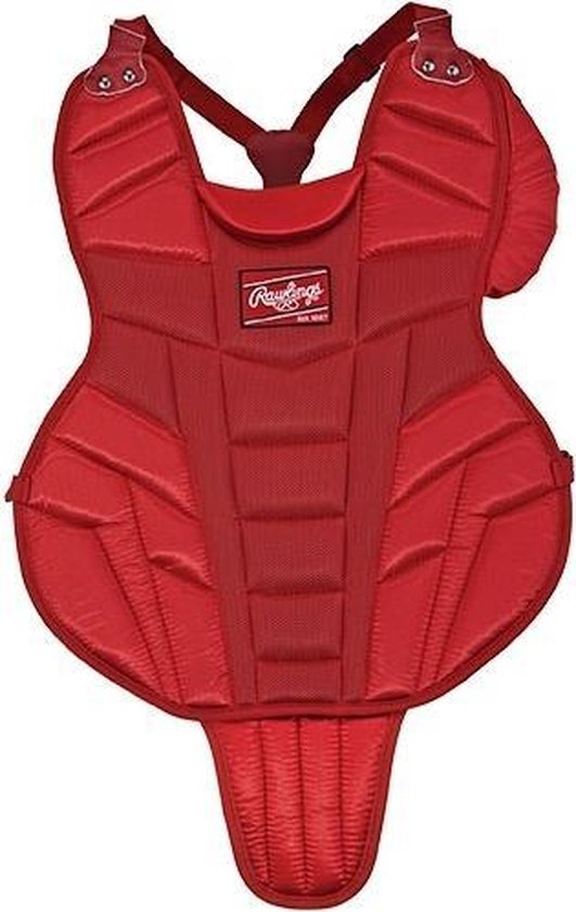 Rawlings Honkbal/Softbal Junior Catchers Bodyprotector - 15 inch - Rood