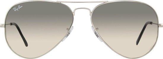 Ray-Ban RB3025 003/32 - Aviator (Gradiënt) - zonnebril - Zilver / Lichtgrijs Gradiënt - 55mm
