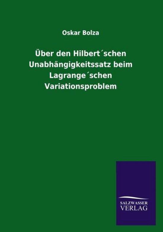 UEber den Hilbertschen Unabhangigkeitssatz beim Lagrangeschen Variationsproblem