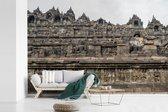 Fotobehang vinyl - De boeddhistische Borobudur tempel breedte 420 cm x hoogte 280 cm - Foto print op behang (in 7 formaten beschikbaar)