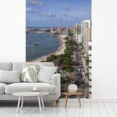 Fotobehang vinyl - Uitzicht op de kust van Fortaleza in Brazilië breedte 335 cm x hoogte 500 cm - Foto print op behang (in 7 formaten beschikbaar)
