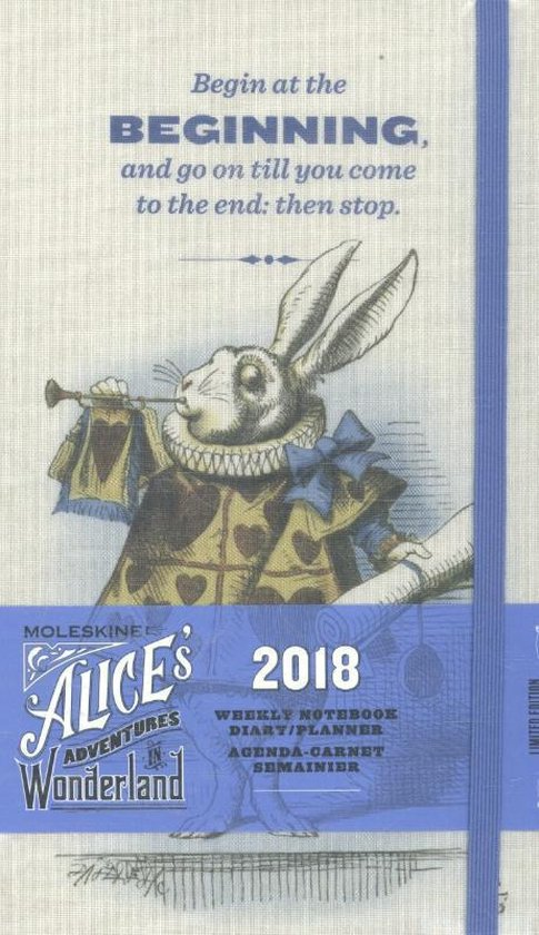 Moleskine Limited Edition Alice in Wonderland - 12 Months Weekly Planner 2018 - Large - Almond White