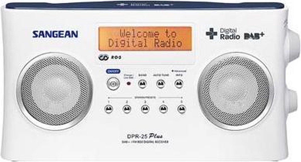Sangean DPR-25 - Draagbare radio met DAB+ - Wit