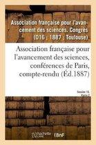 Association francaise pour l'avancement des sciences, conferences de Paris, compte-rendu