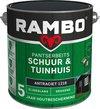 Rambo Schuur & Tuinhuis pantserbeits zijdeglans dekkend antraciet 1216 2,5 l