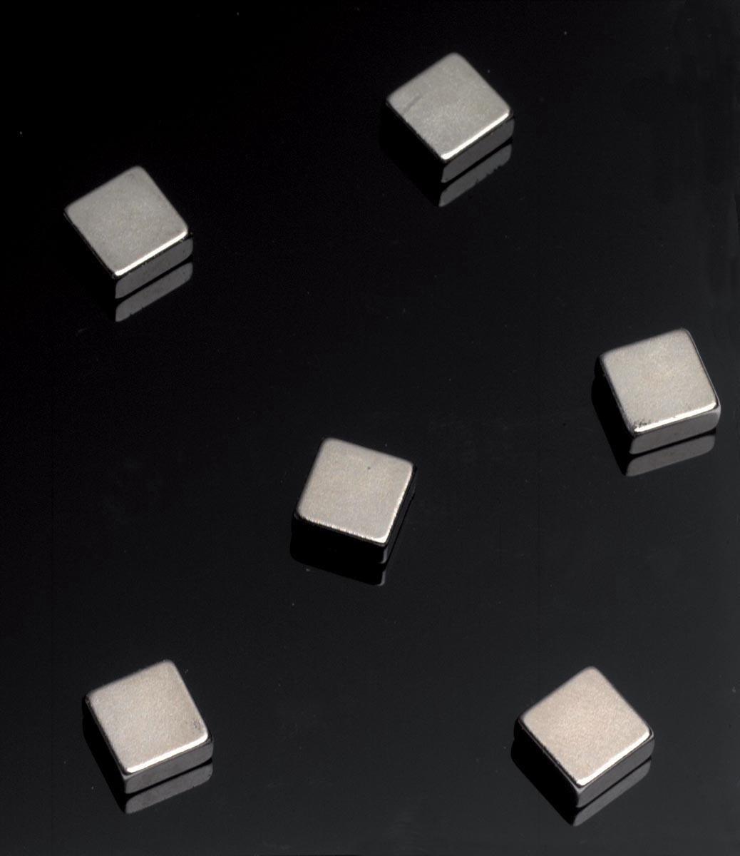 NAGA Magneten supersterke platte Vierkantjes 6 stuks