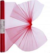 Rode organza stof op rol 40 x 200 cm