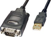 Lindy USB -> Serial Converter - 9 Way (RS-485), 1m USB-kabel Zwart
