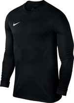 Nike Dry Top Sportshirt LS Heren - Black/White