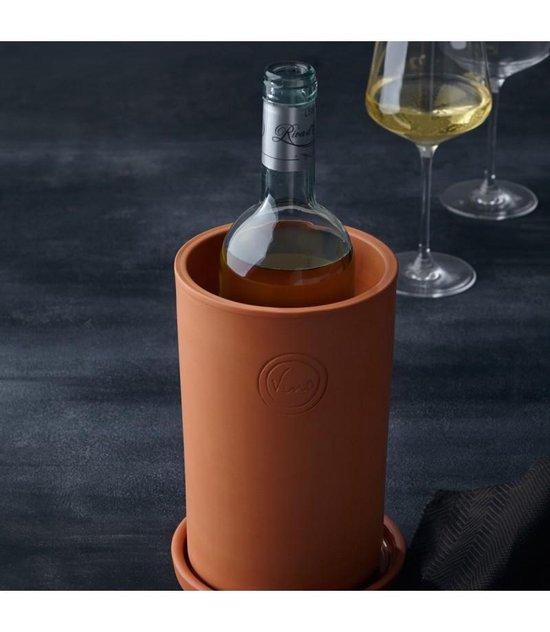 Leonardo wijnkoeler Terracotta - 2 delig - Leonardo