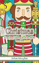 Travel Size Large Print Adult Coloring Book of Christmas