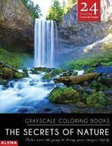 The Secrets of Nature: Grayscale coloring books