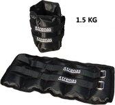Trenas - Manchetten - Enkel - Polsgewichten set 3 kg - 2x 1.5 kg - Zwart