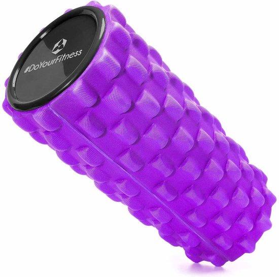 Fascia rol / massage roller »Jatasura« foam roller / pilates rol / therapie roller voor zelfmassage / Meerdere designs verkrijgbaar. De foam rol is ideaal voor fasciale (bindweefsel) training van de rug, dijen. Afmetingen: L34cm x D14cm : violett