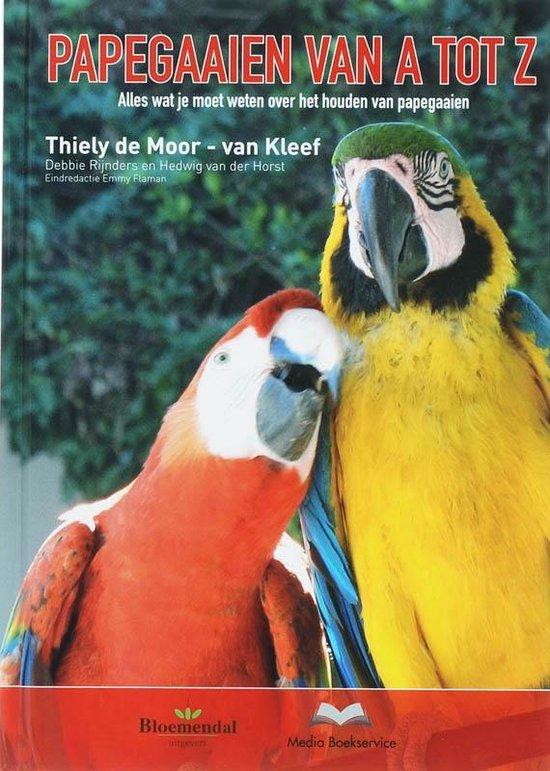 Cover van het boek 'Handboek papegaaien van A tot Z'
