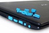 Anti dust plugs - Universele Laptop Antidust siliconen stofvrij dust stoppers - Geschikt voor Macbook pro / Laptop / Chromebook / PC - 1 set Blauw