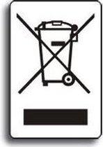 WEEE-Machine-etiket, met Balken, RoHS-conform, zelfklevende folie (sticker), 10/kaart, 10 x 15 mm
