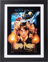 Harry Potter Fotolijst Steen der wijzen inclusief houten fotolijst 30x40cm.