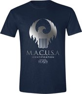 Fantastic Beasts - MACUSA Logo Men T-Shirt - Navy - L