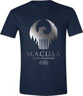 Fantastic Beasts - MACUSA Logo Men T-Shirt - Navy - L