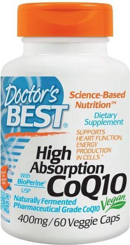Hoge absorptie CoQ10 met BioPerine 400 mg (60 Veggie Caps) - Doctor's Best