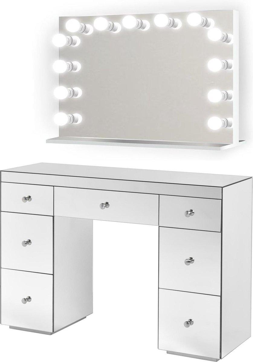 Spiksplinternieuw bol.com   BRIGHT BEAUTY Hollywood spiegel make up tafel met LED SH-68