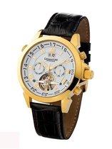 Calvaneo 1583 Calvaneo Astonia Diamond Black Gold - Horloge - 46 mm - Automatisch uurwerk
