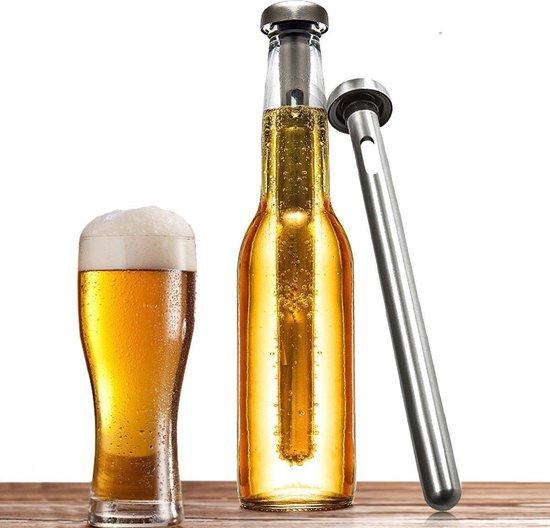 Bierkoeler stick - set van 2 - RVS